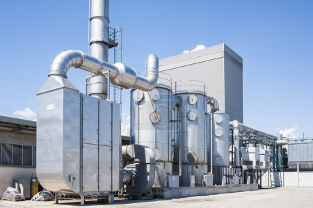 Industrial plant to filter the air