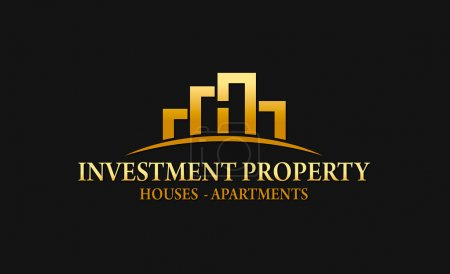 Illustration for Logo ideal for real estate companies, construction companies and investment, buying, selling and renting properties - Royalty Free Image