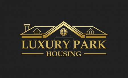 Illustration for Logo ideal for real estate companies, construction companies and business, buying, selling and renting properties - Royalty Free Image