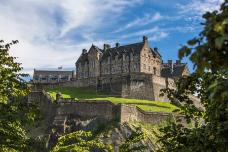 Photo for Looking up the hill at Edinburgh Castle. Edinburgh Castle - Royalty Free Image