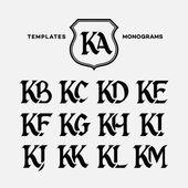 Monograms design templates