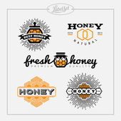 Honey bee label set