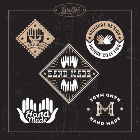 Templates for badges, labels, tags for hand made p...