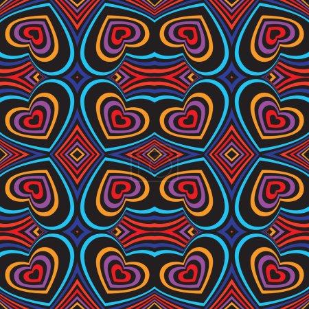 Three-dimensional volumetric seamless pattern. Vector