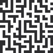 Labyrinth seamless pattern The black lines on white background Vector
