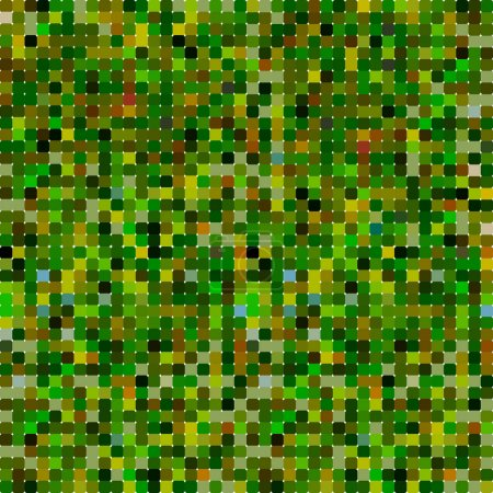 Abstract pixel background green yellow khaki camouflage pattern. Vector