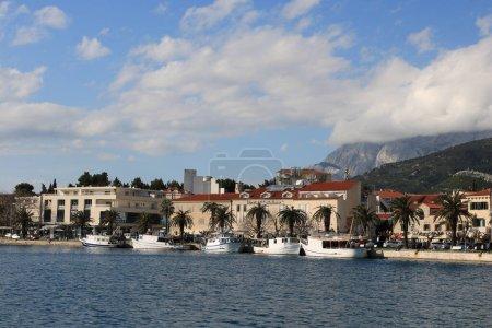 Makarska,Croatia,19.03.2021. Croatian town by the ...