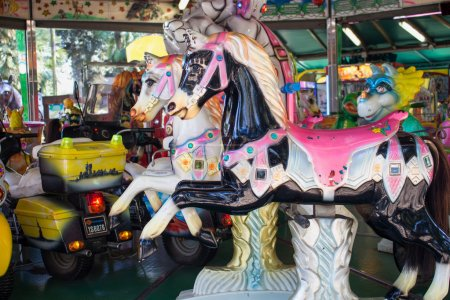 Colorful Carousel Horses