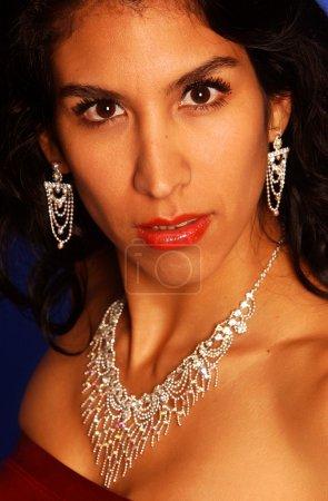 Peruvian Brunette Romina Poses for Camera