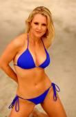 Playboy Model Rebecca Newell - Blue Bikini