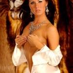 Постер, плакат: Satin Robe Silver Jewelry Sultry Brunette