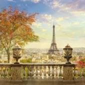 """Постер, картина, фотообои """"Панорама Парижа"""""""