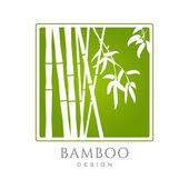 Bamboo icon business sign template