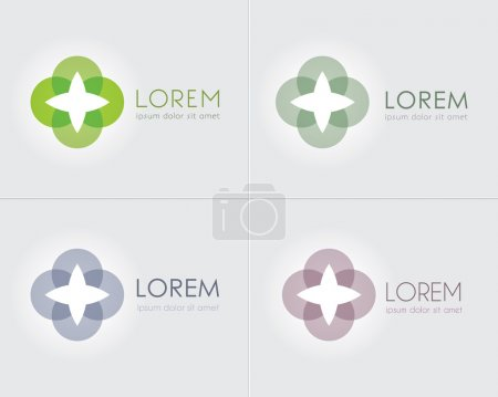 Abstract Business Icon Vector Set.