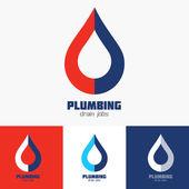 Plumbing Business Sign vector template