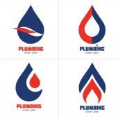 Plumbing Business Sign & Business card vector template