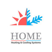 Heating & Cooling systems business icon template