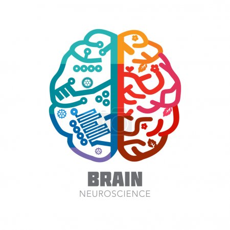 Brain sign design template for Neuroscience & Medicine.