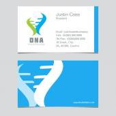 Abstract DNA Spiral business sign & business card