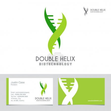Abstract DNA Spiral business sign & business card.
