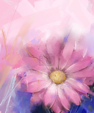 Photo for Pink flower oil painting - Royalty Free Image