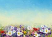 """Постер, картина, фотообои """"цветы живописи в мягком цвете и пятне разрабатывают для фона"""""""