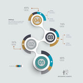 Infographics design step by step templatecan be used for workflow layout diagram web design
