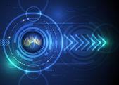 Illustration Abstract futuristic wavelength digital in eyeball