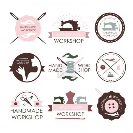 Handmade workshop logo vintage