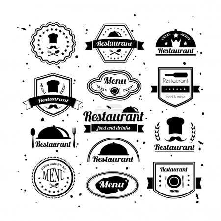 Retro restaurant logotypes set.
