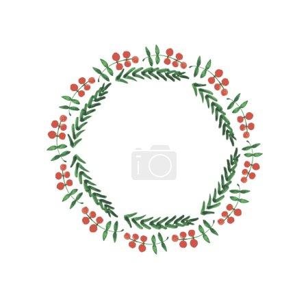 Christmas frame, new year wreath