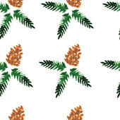 Watercolor seamless pattern - forest cones