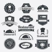Retro restaurant vintage Insignias or logotypes  set