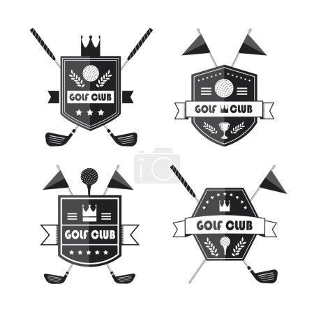 Set of golf or golf emblems