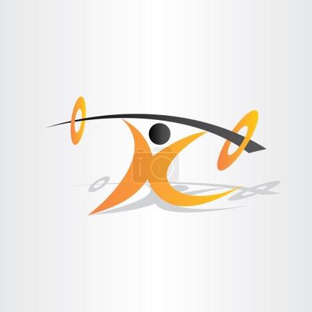 Letter k body building man builder muscule weight