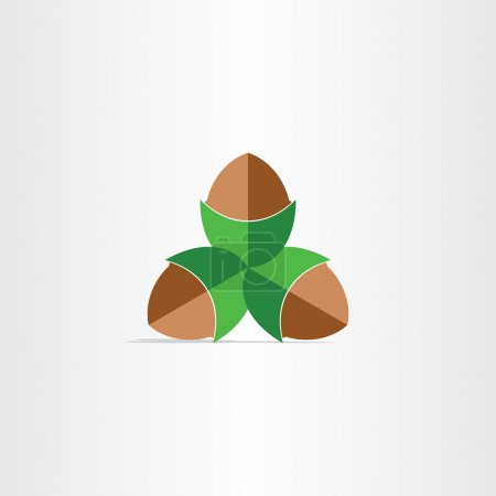 hazelnuts flat icon design