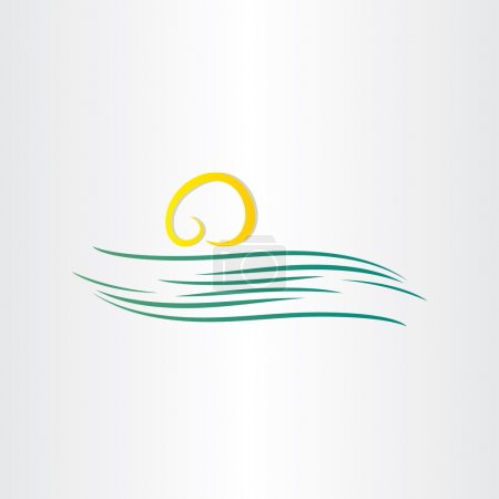river and sun symbol