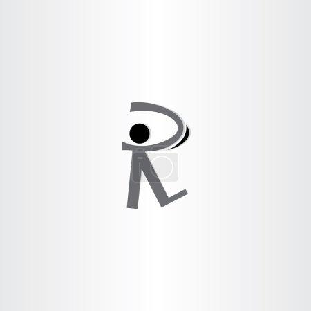 homme marche noir icône lettre r logo