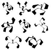 Vector illustration Guys dancers good
