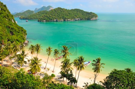 View from Wua Talap Island, Boat Trip from Koh Samui to Ang Thong National Marine Park, Thailand