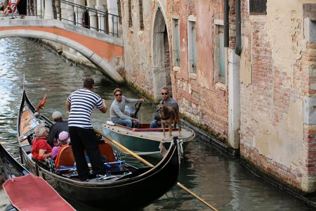 Venetian gondola and boat