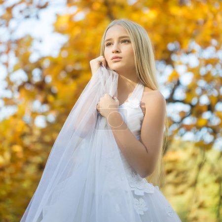 Beautiful autumn bride