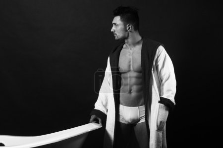 SExy man in bathrobe