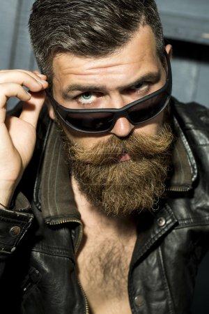 Portrait of sexy biker