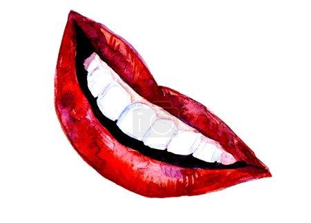 Illustration de lèvres aquarelle sexy