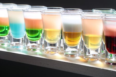 Variety of tasty shots