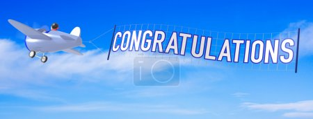 Cartoon Airplanes with Congratulations Banner