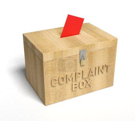 Photo pour Une vraie boîte à plaintes en bois. Rendu 3D - image libre de droit