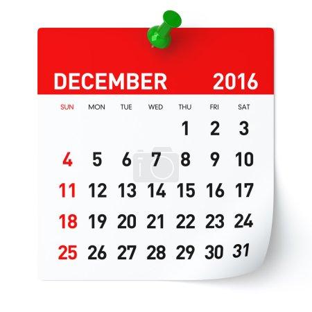 December 2016 - Calendar.