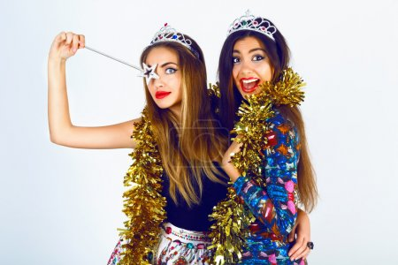girls ready for celebrating holidays party